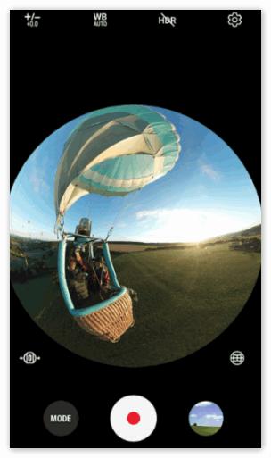 Камера 360 работа в приложении