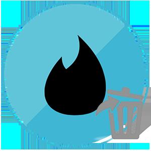 Удалить из пар в Тиндере логотип