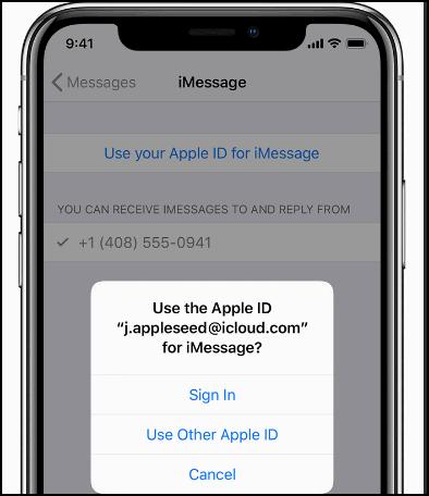 Изменить адрес почты для Facetime и iMessenge