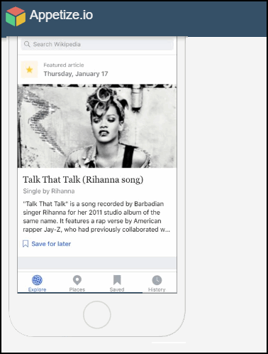 Пример эмулятора iOS Facetime