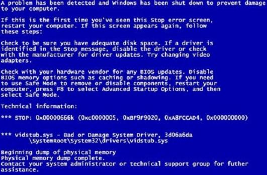 Синий экран смерти, как исправить