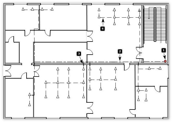 Кабельные трассы первого этажа