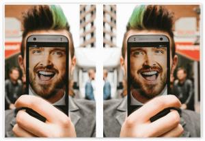 Переворот фото в селфи камере