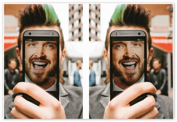 Почему селфи камера переворачивает фото?