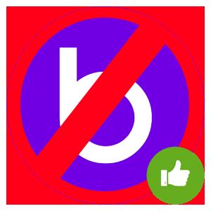 Удалить профиль в Баду Лого