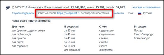 Партнерская программа ЛавПланет сайт