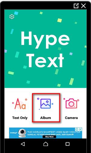 HypeText в Инстаграме