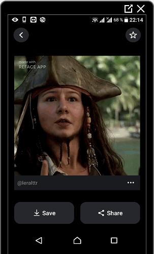 Замена лица в reface для Инстаграма